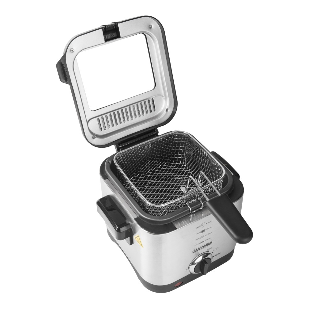 Adler elektromos fritőz állítható termosztáttal, 900W
