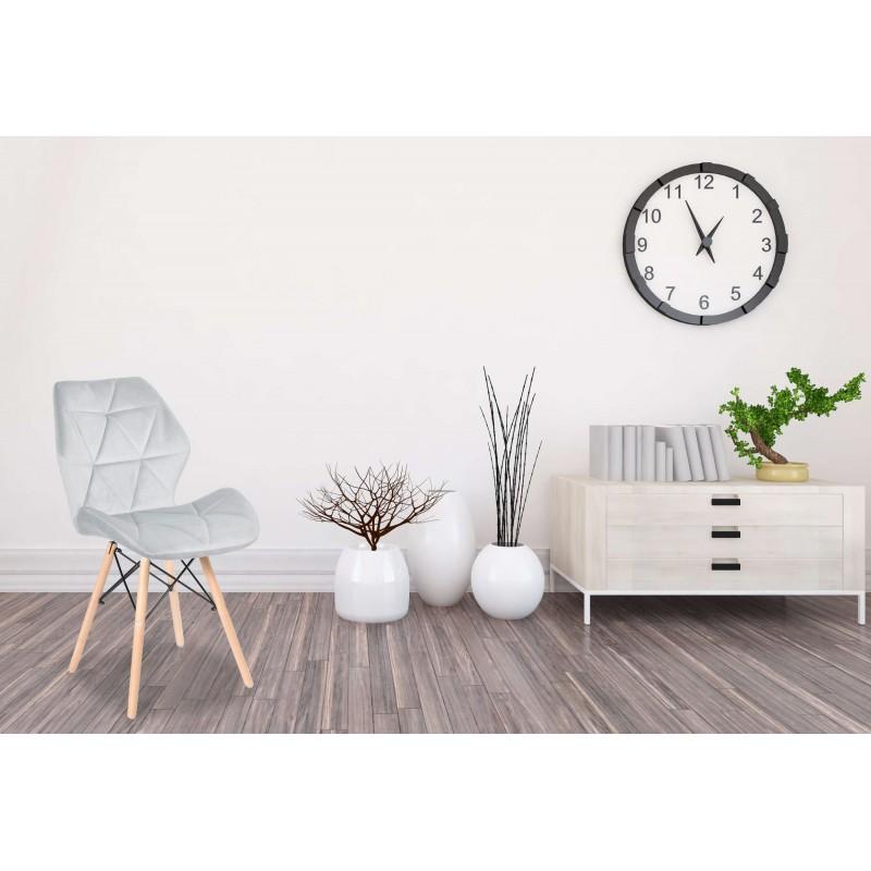 Modern rennes szék kárpitozott konyha, nappali vagy éttermek, ezüst szín