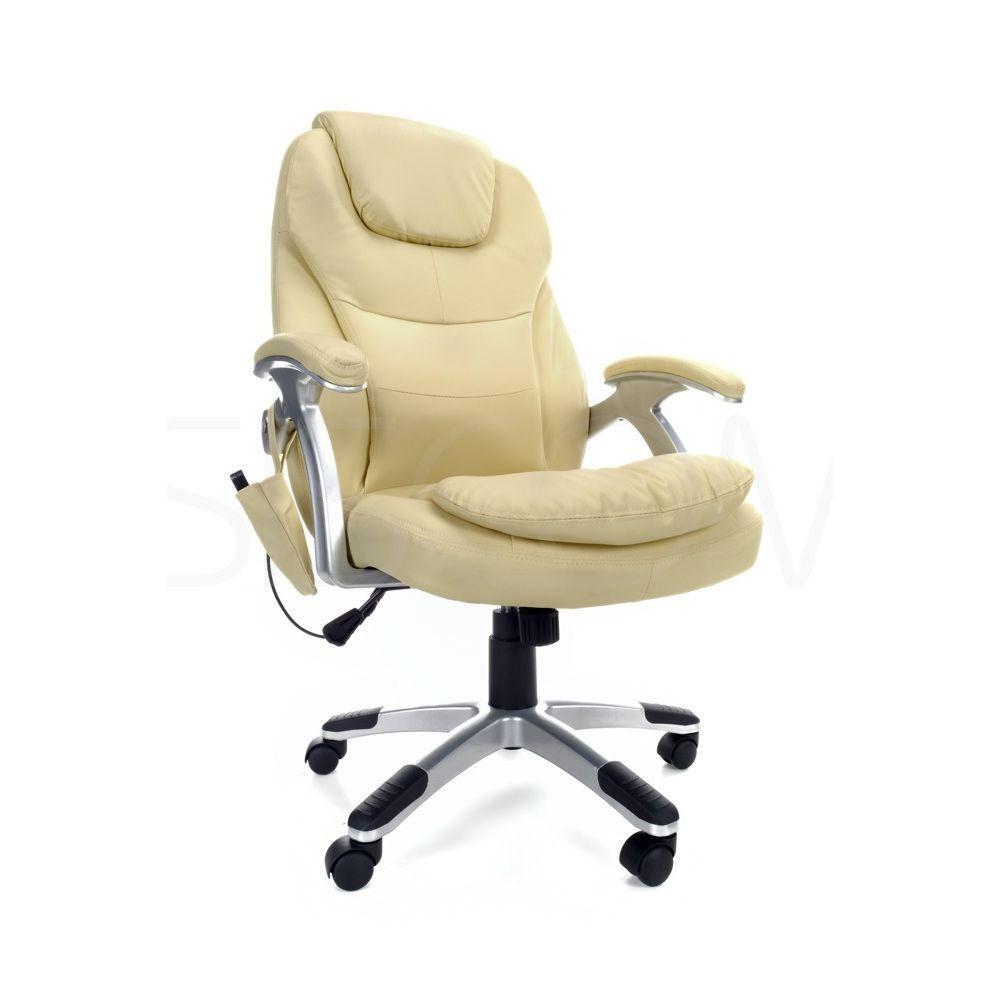 Thornet directional irodai szék 6 zónás masszázsal és távirányítóval, állítható, 9 program, bézs színű
