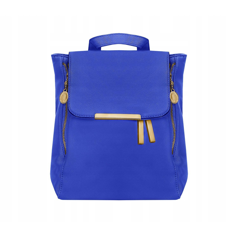Elegáns női bőr hátizsák, kék színű